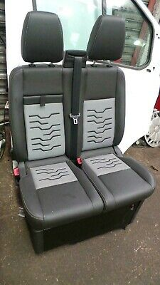 FORD TRANSIT CUSTOM VAN 2018 2019 ECO LEATHER /& ALICANTE TAILORED SEAT COVERS