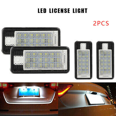 2pcs 24 LED License Plate Light Lamp Error Free For Audi A2 A3 A4 S4 A6 B7 A8 Q7