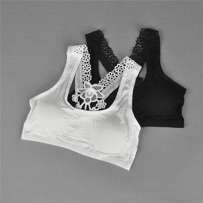 Young Girls Bra Lace Puberty Girl Underwear Wirefree Bra for Teens Vest SSM