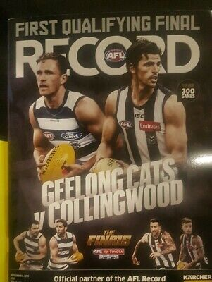 2019 Footy RECORD First Qualifying Final Geelong vs Collingswood MCG