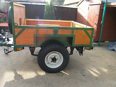 heavy  duty  car trailer built on milatary wide track chassis.