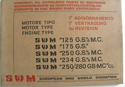 Manuel catalogue S.W. M  Motore TIPO . Type . Engine Type