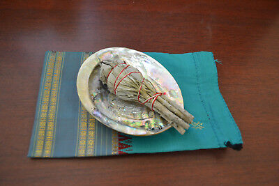 Abalone Shell And Sage Smudge Kit Spiritual Cleansing