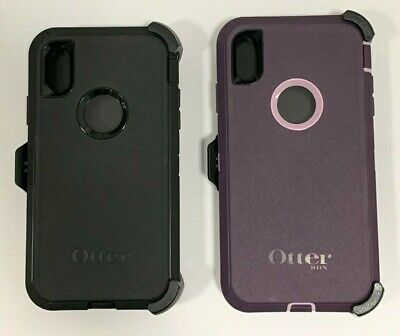 Otterbox Defender Series Case Cover for Apple iPhone XR with Holster Colors