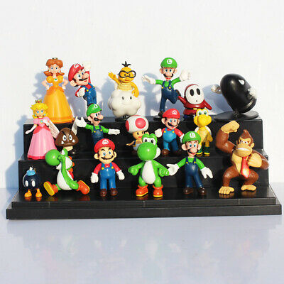 SUPER MARIO BROS lot de 18 Figurines  poupée LUIGI MARIO PEACH jouet décor