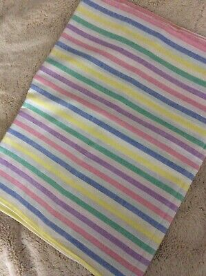 A Vintage Cotton Candy Stripe Sheet....Unused....Single Bed.Made By Horrockses.
