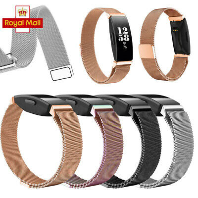 For Fitbit Inspire HR Metal Strap Stainless Steel Loop Watch Mesh Band Magnetic