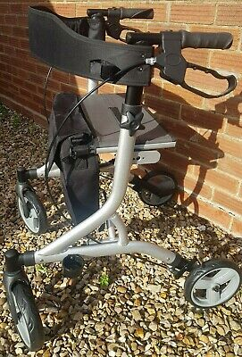 Zoom Folding Ultra Lightweight Walker With Storage Bag, Seat & Hand brakes New