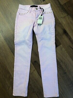 juicy couture girls 8 pink lady skinny jeans pants retail $98