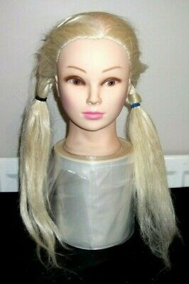 Hairdressing Training Practice Blonde Head Size 21 Model 613
