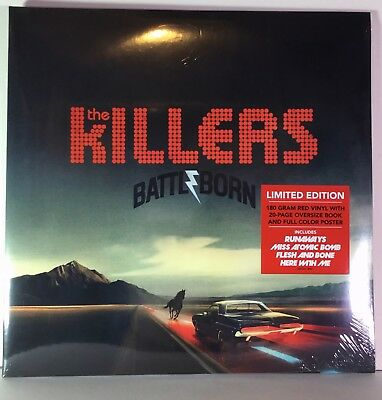 The Killers - Battle Born - Limited double Red vinyl - Sealed - + Poster and boo
