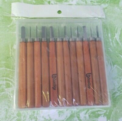 NEW 12 PIECE Bastex Carbon Steel Wood Set Chisels for Beginners & Kids
