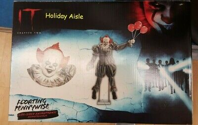 6 FT ANIMATED PENNYWISE FLOATING Halloween Prop IT CHAPTER 2 **READY TO SHIP**