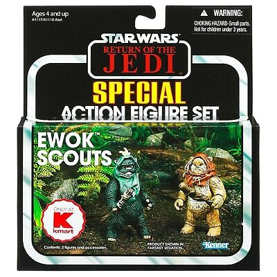 Star Wars Return Of The Jedi Ewok Scouts K-Mart Exclusive