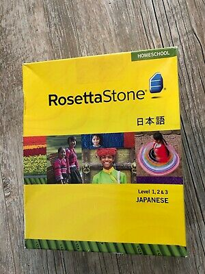 Homeschool Ed Rosetta Stone Japanese 6 Months ALL LEVELS Upgrades /& Dictionary