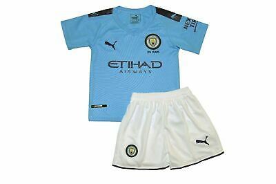 Mcfc Kids Home Kit Genuine Blue 2 Pc Youth Football Custom Manchester City Kit