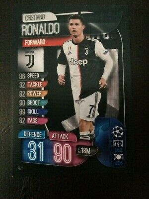 Match Attax 2019/20 Cristiano Ronaldo Base Card No 252 Mint