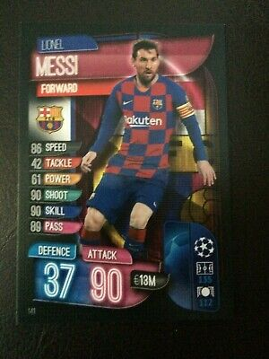 Match Attax 2019/20 Lionel Messi Base Card No 141 Mint