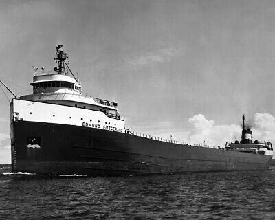 New Restored 8x10 Satin Finish Photo: Great Lakes Freighter SS Edmund Fitzgerald