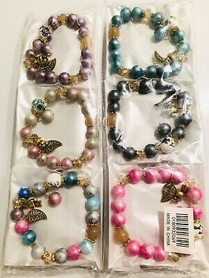 Wholesale 12 Pcs Mix Color Lots Random Mix Style Charms Bracelets Bangle Set