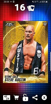 Topps WWE Slam Digital Card 235cc Fire Stone Cold Austin Golden Greats Award
