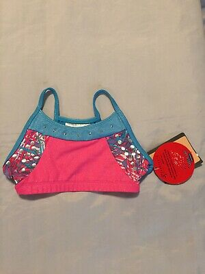 New Toddler Girls Freestyle Danskin Pink Blue Gymnastics Dance Top Size XS 4-5