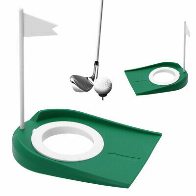 Plastic Mat Golf Green Putting Practice Cup Golf Putting Hole Training Aids