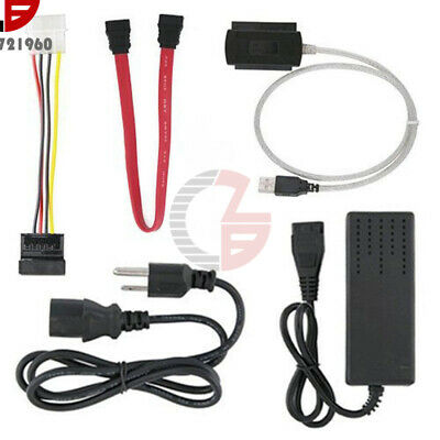 SATA/PATA/IDE To USB 2.0 Adapter Converter Cable For 2.5 3.5 Hard Drive US Plug