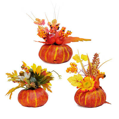Artificial Fake Pumpkin Silk Leaves Halloween Harvest Festival Party Decor 2020