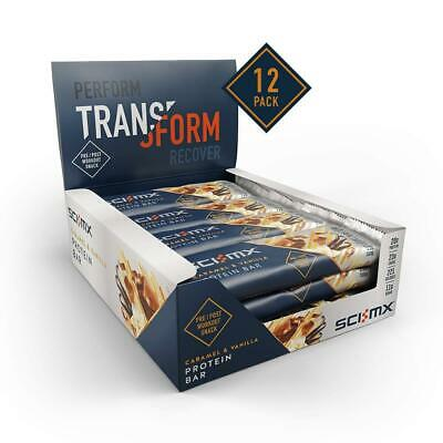 Sci-MX Nutrition High Protein Bar Box, Caramel And Vanilla, Pack Of 12 X 60G