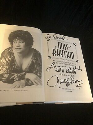 Ruth Brown R&B Jazz Singer Music Autographed Signed Book Miss rhythm