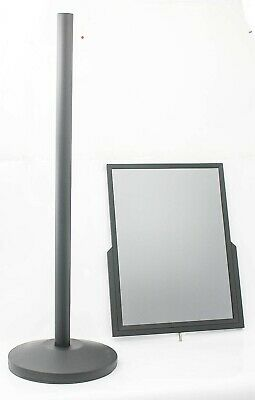 "Displays2go 18"" x 24"" Stainless Steel Poster Sign Floor Stand"