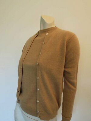 Brown Camelhair Yarn Vintage Twin Set - Pullover & Cardigan - 1960s - Bust 91 cm