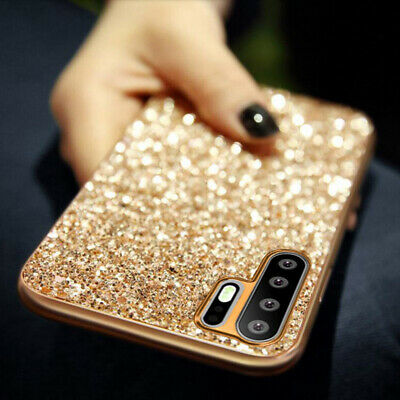 For Huawei P30 Pro Lite Nova 3i 3E Bling Glitter Diamond Sparkle Hard Case Cover