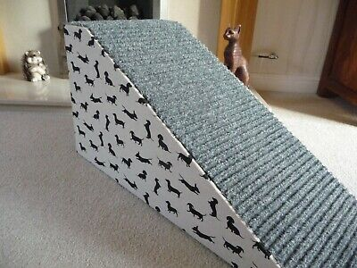 32cm High Pet Ramp Dachshund Silhouette Cotton Fabric