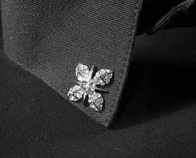Pair of Wonderful Flower Design With Shiny Clear CZ 925 Solid Silver Collor Tips