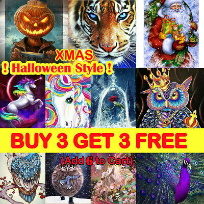 Animal DIY 5D Diamond Painting Embroidery Cross Craft Stitch Art Kit Halloween K