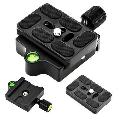 """Camera Clamp And Quick Release Plate With 1/4-3/8"""" Screw Adapter For Arca Swiss"""