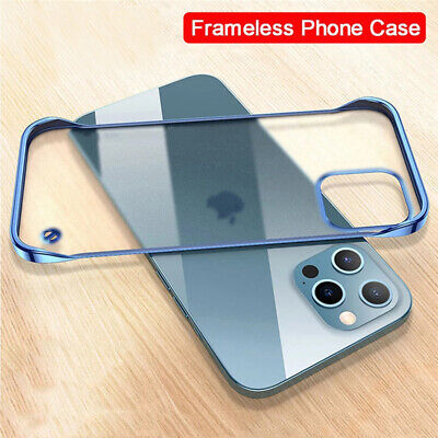 Ultra Thin Frameless Transparent Matte Case Cover For iPhone 6S 7 8 Plus XS Max