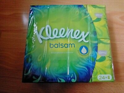 Kleenex Balsam Pocket Tissues Pack Of 24 NEW - Soft Tissues Ideal for Sore Nose
