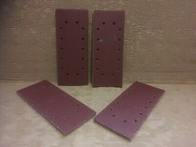 HOOK & LOOP 1/2 SANDING SHEETS 115 x 230mm PUNCHED SANDPAPER PADS  40 MIXED GRIT