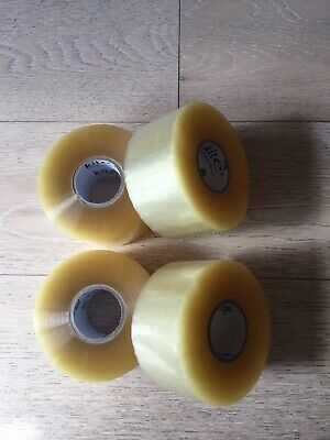 Clear Packaging Parcel Packing Tape 4 Sellotape rolls - 48mm Wide X 150 Meters