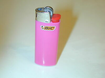 Bic Mini Gas Cigarette Lighter Assorted Solid Color Disposable