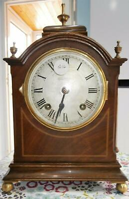 Mahogany String Inlaid Striking Bracket Clock in Good Working Order