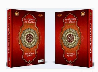NOBLE Quran A5 Red Word for Word Arabic English Translation Colour Tajweed Small