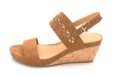 Details about Tommy Hilfiger Womens Harber Fabric Open Toe Casual T Strap Sandals