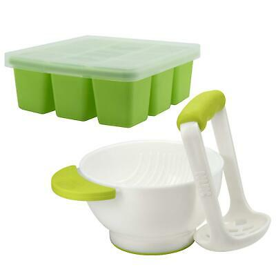 Annabel Karmel By NUK Baby Food Masher And Bowl With 2 Food Cube Freezer Trays