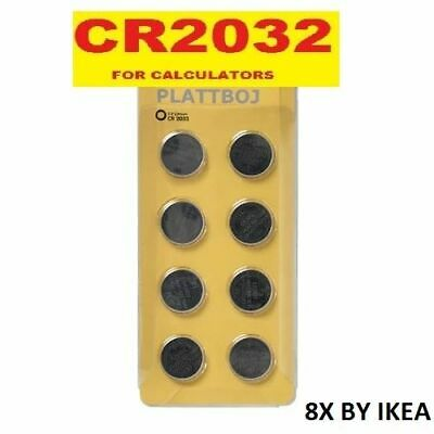 8 X IKEA CR2032 3V Lithium Button Battery Coin Cell DL/CR 2032 Expiry 2028