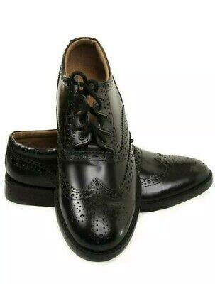 New Scottish Ghillie Brogues Kilt Leather Shoes with Leather Sole UK Size 6 - 12