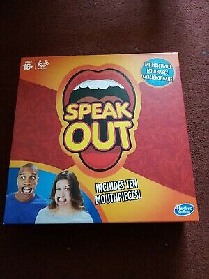 Speak Out Game Board Party Mouth Piece Challenge Family Kids /Adult Fun Game